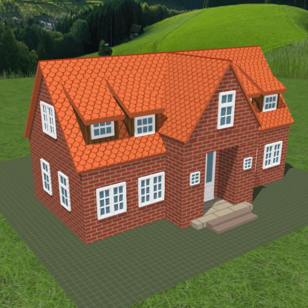FALLER CREATE - 3D-Druck Objekte - Idyllisches Landhaus 1