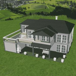 FALLER CREATE - 3D-Druck Objekte - Villa im mediterranen Stil